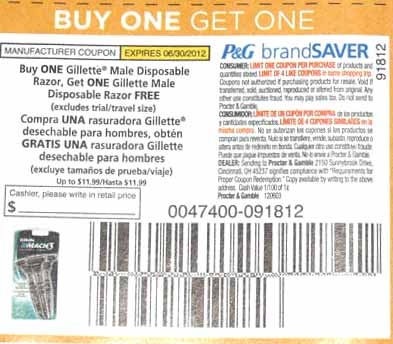 photo relating to Gillette Printable Coupon named Free of charge RAZORS at Shaws during 7/5 Just take your discount coupons