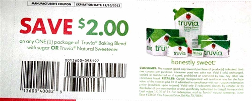 Truvia Coupon. There is a new Truvia Coupon available to vaicepranspe.tk coupon is for $ off (1) package of Truvia Stevia Sweetener (excludes 30ct.) Print Truvia Stevia Sweetener Coupon. If you are heading to ShopRite make sure to keep an eye out for this deal!