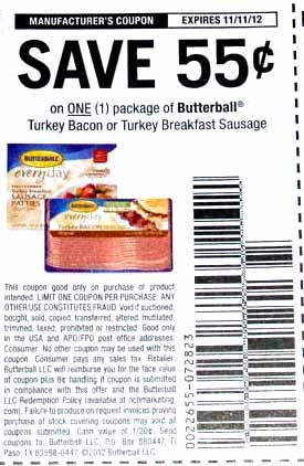 Butterball bacon coupon 2018