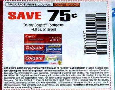 photograph about Colgate Printable Coupons identified as Absolutely free Colgate Toothpaste or 19 CENTS at Walmart Order all the