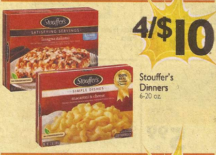 graphic regarding Stouffer Coupons Printable called Stouffers Dinners Simply just $2.00 at Shaws setting up 4/12 with