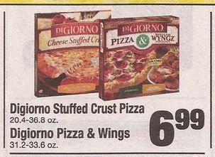 graphic about Digiorno Printable Coupon referred to as $2/2 DiGiorno Pizza Printable Coupon + Shaws Sale 10/4 +