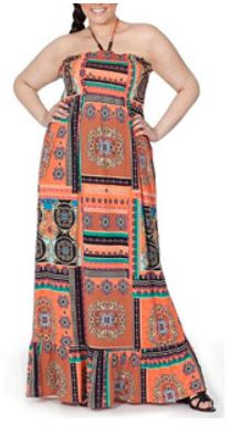 Walmart.com Clearance – Plus-Size Maxi Dress with Beaded Straps 1X ...