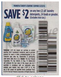 All laundry detergent coupon september 2018