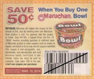 Hot Coupons 50 1 Maruchan Yakisoba And Bowls Will Double