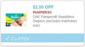 Time to stock up on diapers! Head to your local Walmart store and score Pampers Swaddlers Diapers for just $! Just combine a printable coupon with a possible clearance price and save BIG!