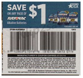 Rayovac Batteries $2.83 at Market Basket with Coupon & 4%