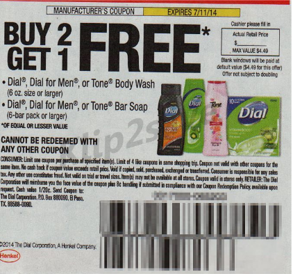 Dial Or Tone Body Wash Only $2.00 At Walgreens Starting 6 ...