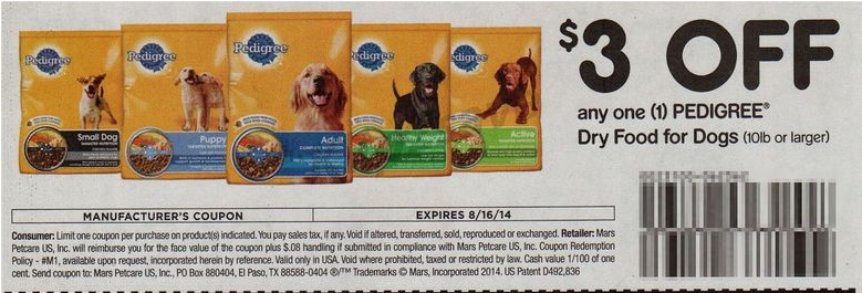 Pedigree coupons printable