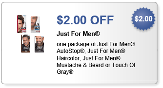 photo relating to Just for Men Printable Coupon called Simply For Adult men Hair Colour Merely $5.99 At Walgreens Setting up 8