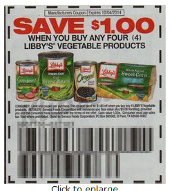 Libby vegetables coupons 2018