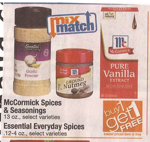 $1 75/2 McCormick Spices or Herbs Insert Coupon (or $ 50/2