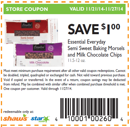 Shaw's supermarket coupon policy