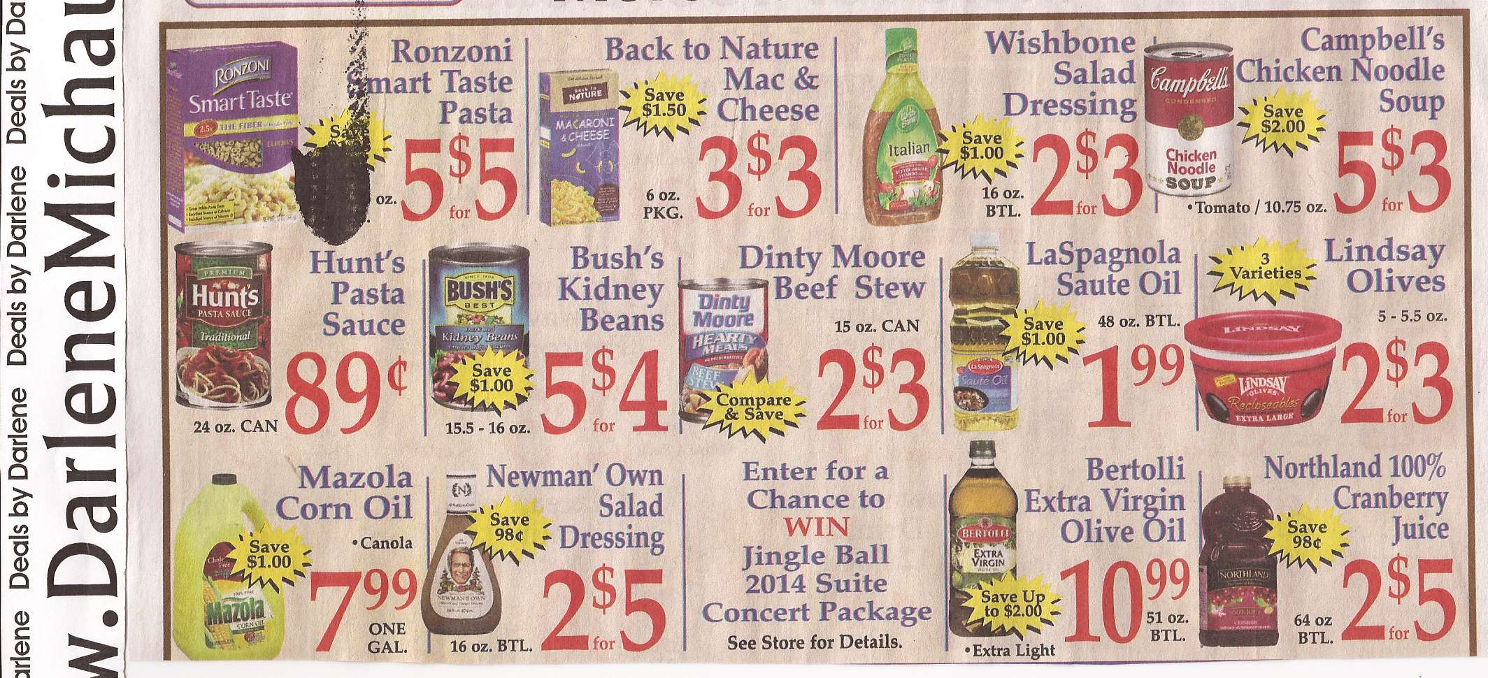 Food coupons market basket