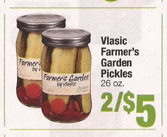 Vlasic farmer s garden pickles only at shaw s thru 3 26 with printable coupon darlene for Vlasic farmer s garden pickles