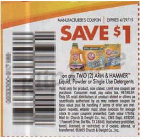 arm and hammer detergent manufacturer coupons