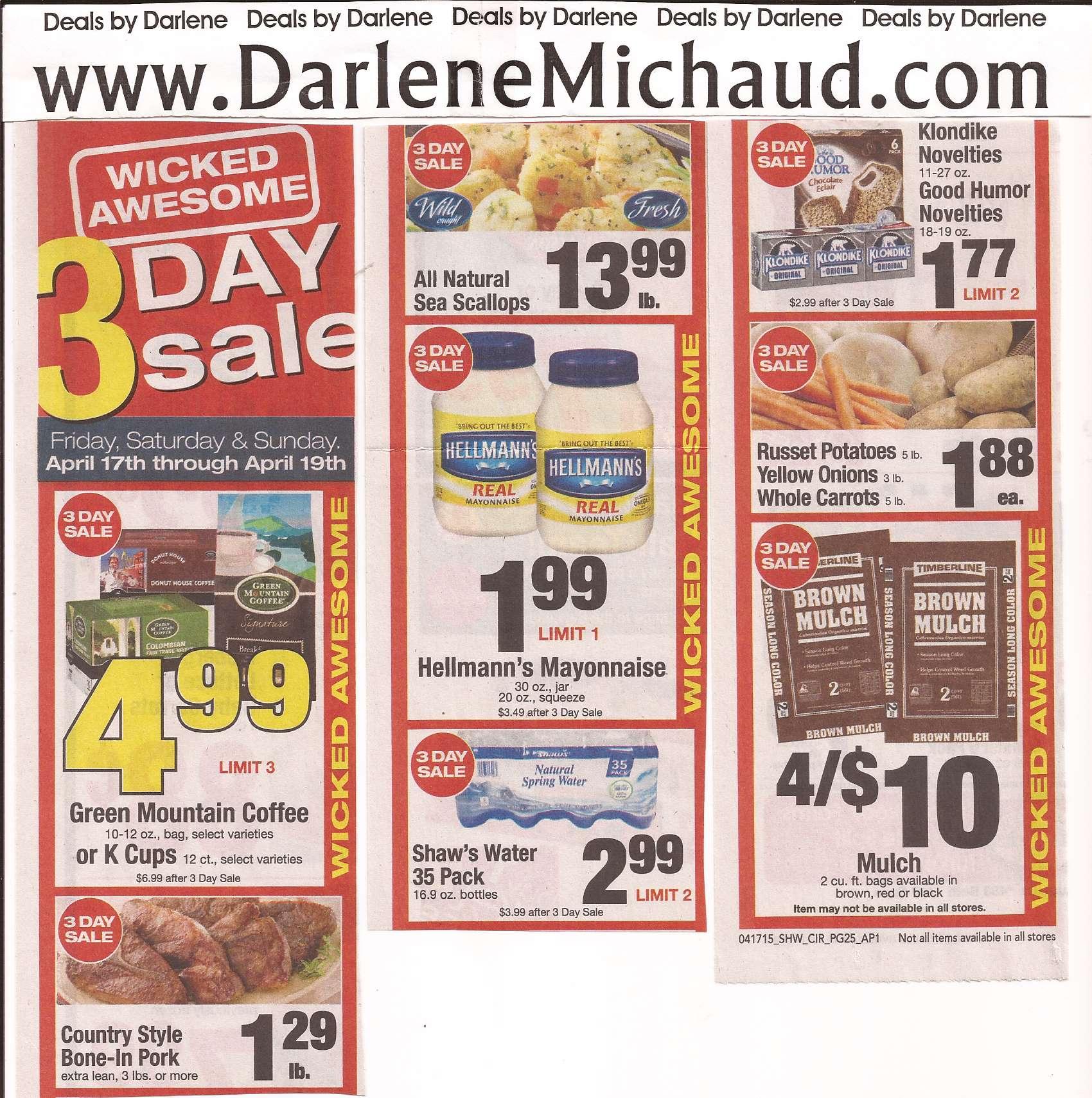Shaw S Flyer 4 17 4 23 Darlene Michaud