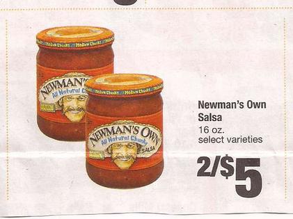 Paul newman salsa coupons