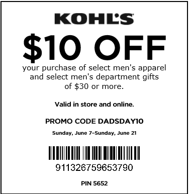 Kohl s 10 off 30 purchase in store coupon click on the get