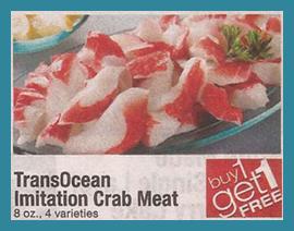 Trans ocean crab coupon