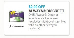 discreet underwear coupon