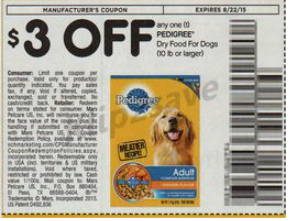 Pedigree Dog Food 13 5lbs Only 6 99 At Walgreens With