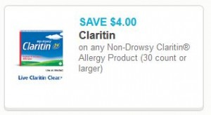 graphic regarding Claritin Printable Coupon titled Large Cost** Claritin Allergy, Simply $16.95 at Walmart with
