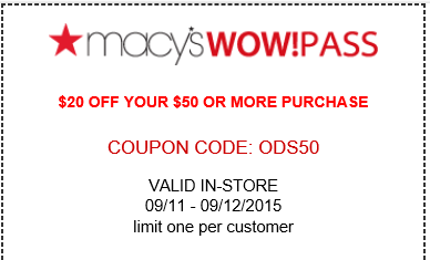 Find the best of Macy's promo codes, coupons, deals and discounts for December Save with RetailMeNot Today! Deals of the Day, Doorbusters, Everyday Values (EDV), Last Act, Lowest Prices of the Season, Macy's Backstage, lasourisglobe-trotteuse.tk, specials, Super Buys, The Market @ Macy's, athletic clothing/shoes Get % off + 30% off Fine.