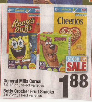 List Of General Mills Cereals In The 1 88 Sale At Shaw S