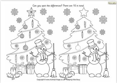 FREE Printable Christmas Spot The Difference Puzzles Â« Darlene Michaud