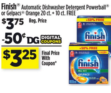 finish dishwasher tablets coupon