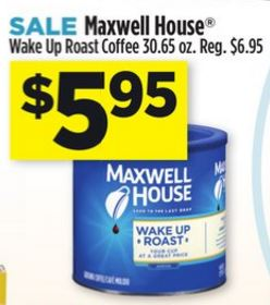 photo relating to Maxwell House Printable Coupons called Greenback Overall 1/3 1/9 Maxwell Property Espresso 30.65 oz