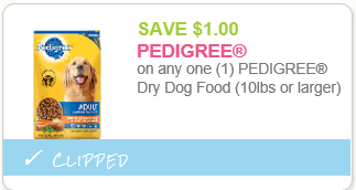Pedigree Dog Food Coupons Buy One Get One Free