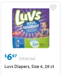 Luvs Coupons $1.50 Off