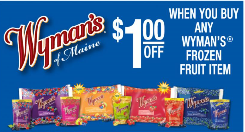 image regarding Whole Foods Printable Coupons called Wymans Frozen Blueberries Simply just $2.69 At Full Meals With