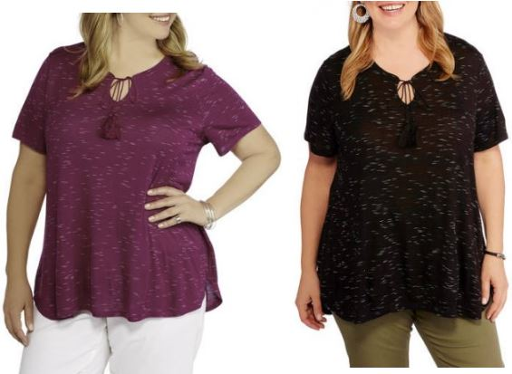0d1e01c57552 WALMART CLEARANCE – Faded Glory Women s Plus Size Space Dye Tee Only ...
