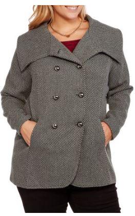 b3935c1048cf3 Walmart Clearance – Maxwell Studio Women s Plus-Size Tulip Faux Wool ...