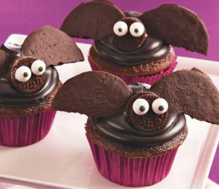 bat cupcakes halloween recipe tablespoon darlene michaud