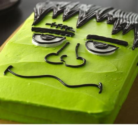 frankenstein monster's cake halloween recipe betty crocker darlene michaud