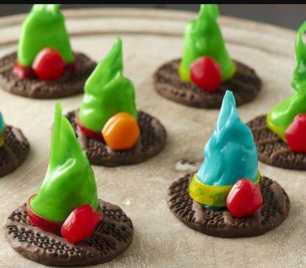fruit roll ups wicked witch hats halloween recipe pillsbury darlene michaud tall