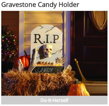 gravestone candy holder home depot workshop darlene michaud