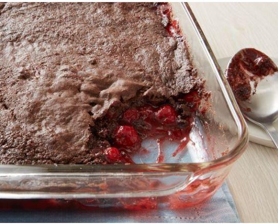 3 ingredient chocolate cherry dump cake betty crocker recipe darlene michaud tall