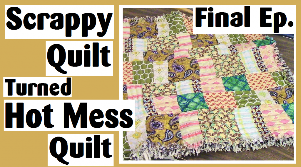 scrappy strip quilt turned to patchwork quilt episode 4