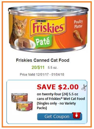 friskies cat food coupon deal shaws darlene michaud