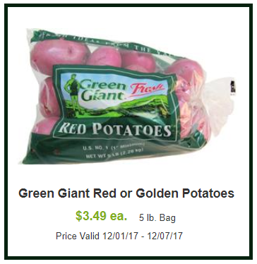 green giant red gold potatoes shaws coupon deal darlene michaud