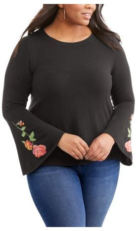 3bdfe386396a faded glory bell sleeve womans plus size sweater walmart clearance darlene  michaud
