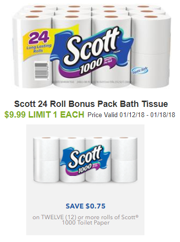 scott toilet paper coupon deal shaws darlene michaud