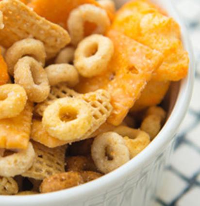 cheerios cheesy snack mix betty crocker darlene michaud