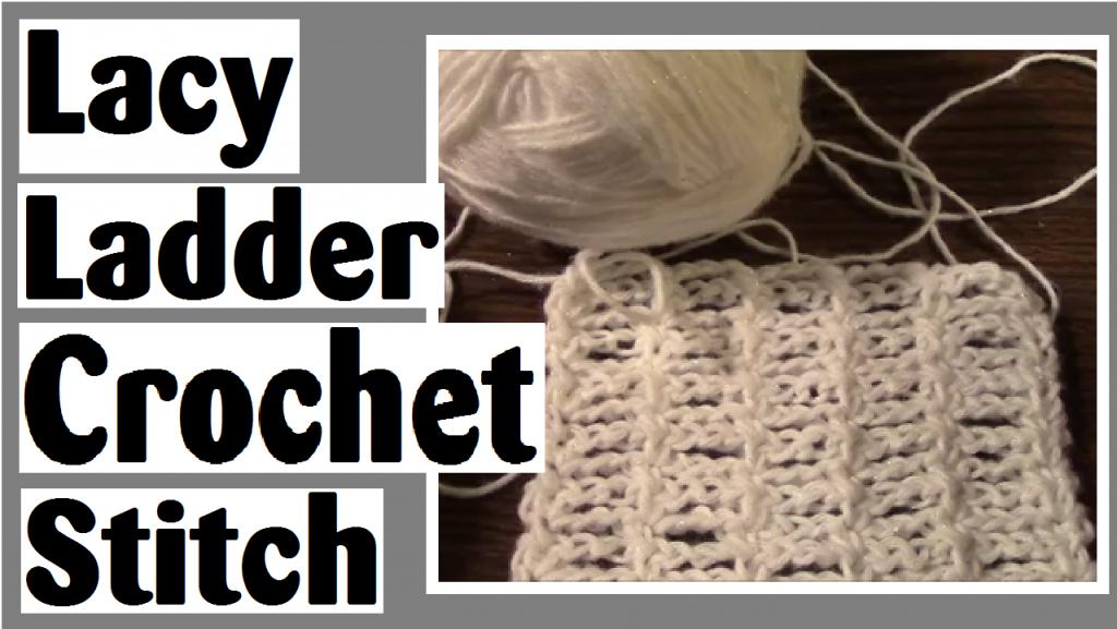 lacy ladder crochet stitch darlene michaud