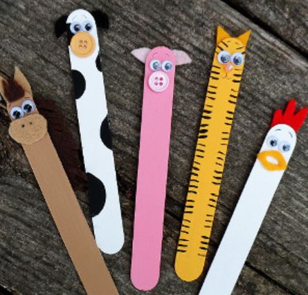 Out Of The Barn Popsicle Sticks Craft For Kids Darlene Michaud